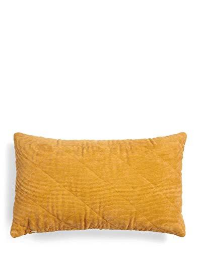 ESSENZA Cuscino decorativo Billie tinta unita poliestere giallo senape, 30 x 50 cm