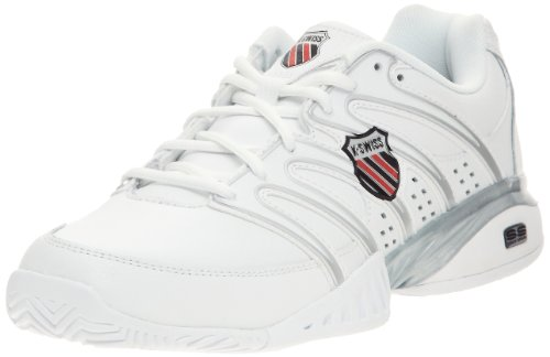 K-Swiss APPROACH II 02636-129-M, Herren Tennisschuhe, Weiß (White/Black/Silver), EU 44.5 (UK 10)