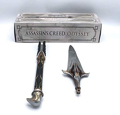 YXCC Assassin S Creed Odisea Lanza de Onidas Xiujie de novena generación COS Hoja Oculta Figura de Palo Espada