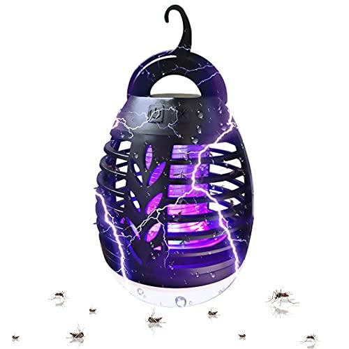 TOGAVE Elektrischer Insektenvernichter, UV Insektenvernichter Mückenlampe IPX6 Wasserdicht Mückenkiller mit 2200mAh Eingebaute Batterie Moskito Killer für Camping, Garten, Balkon und Schlafzimmer