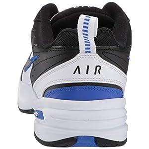 Nike Men's Air Monarch IV Cross Trainer, Black/Black-White-Racer Blue, 11.5 4E US