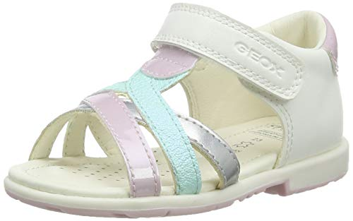 Geox B VERRED B', Scarpe da Ginnastica Bambina, White/Pink, 26 EU