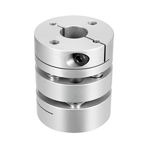 uxcell 14mmx17mm Clamp Tight Motor Shaft 2 Diaphragm Coupling Coupler