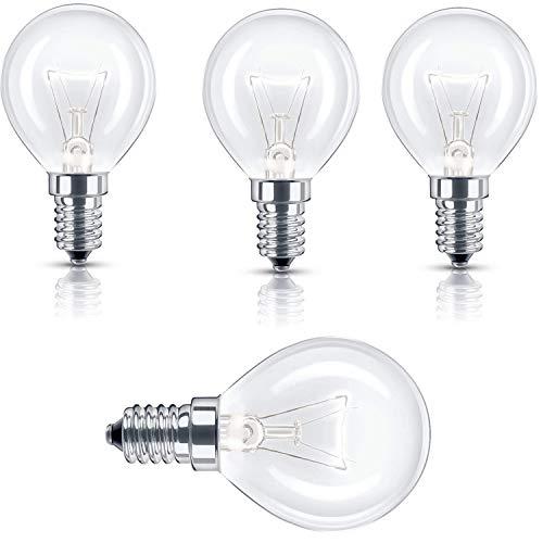 Utiz Glühbirne für Backofen, GLS, 40 W, 240 V, E14, SES P45, 4 Stück bis 300 °C Hitze