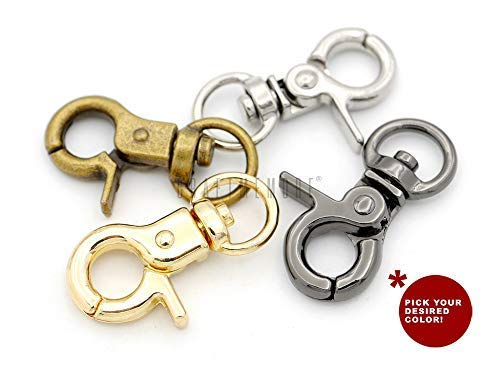 CRAFTMEMORE Lobster Claw Clasps Trigger Snap Hooks 1 1/4