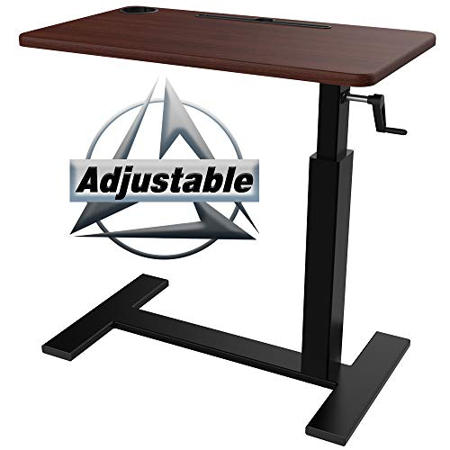Balee Overbed Table, Height Adjustable Bedside Table Non Tilt Top Over The Bed Table Desk with Wheels for Home Use