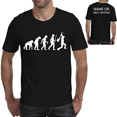 MGEAR Evolution of Music Notes Piano Gitarist Grappige Mannen T Shirt T-Shirt Aangepaste Tekst Gedrukt tee Verjaardag Present Zwart