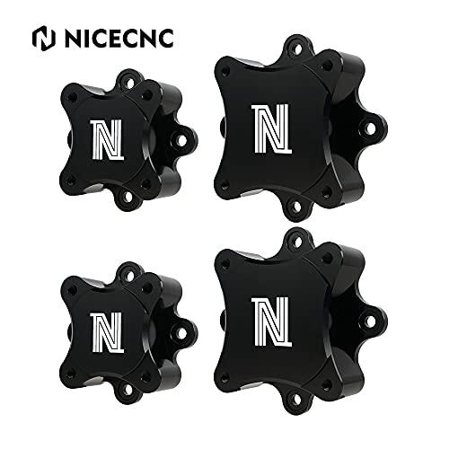 NICECNC Negro 4PCS Wheel Hub Centric Spacers Compatible con Yamaha Raptor 700 700R 2006-2021, YFZ450 2006, YFZ450R 2014-2021