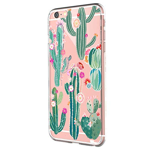 Pacyer Funda compatible con iPhone 7, Suave Carcasa compatible iPhone 8 Plus transparent Case Cover Silicona Funda compatible iPhone 7/8 Plus Diseño Rosa flower (15, iPhone 7 Plus / 8 Plus)