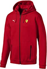 'Scuderia Ferrari' Print along right sleeve Technical draw cord construction at hood Click on the PUMA logo for brand store 77% cotton 23% polyester -double knit-320.00 g/m-PS/02-CF/001 Main Material 2: 52% cotton 48% polyester -double knit-Regular F...