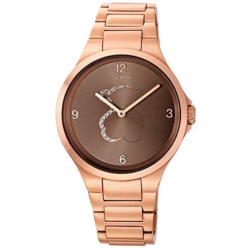 Reloj tous Motion de acero IP rosado con cristales transparentes
