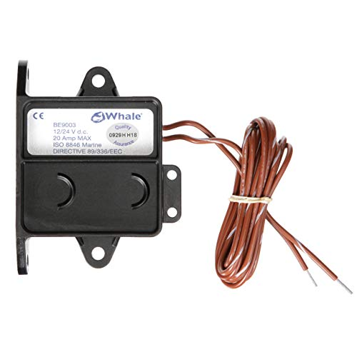 Whale BE9003 Electric Field Sensor Switch, 12V or 24V, Suitable for Up to 20 Amps, One Size, Black