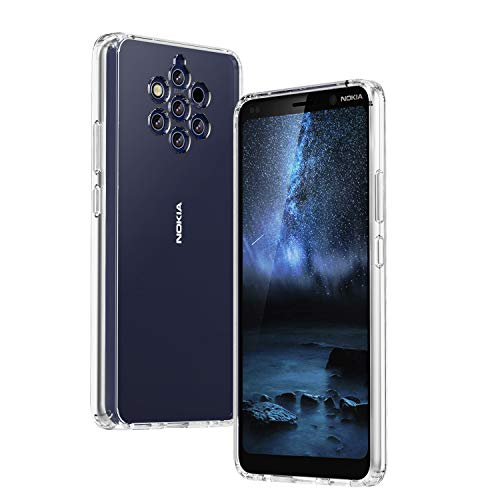 TiMOVO Kompatibel mit Nokia 9 PureView Hülle, Stoßfeste Handyhülle mit TPU Rahmen & PC Rückseite Leichte Dünne Schutzhülle für 9 PureView - Klar