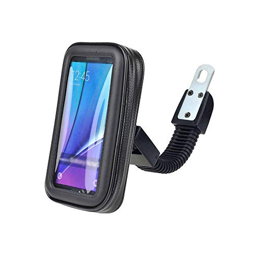 CQLEK® Rugged Waterproof Mount Stand for Bike/Motorcycle Mobile Holder Zip Pouch Style - 5.5 inch to 7 inch