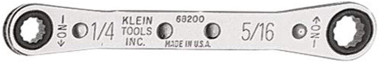 مفتاح ربط 68200 من كلاين تولز 1.9 سم × 1.6 سم مع مفتاح ربط عكسي ولمسة نهائية مطلية بالكروم