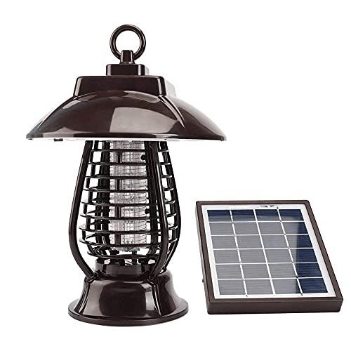 Lámpara solar para asesinar moscas, lámpara UV para exteriores, para asesinar mosquitos, lámpara de seguridad inalámbrica con puerto de carga USB, utilizada en jardín, terraza, césped, casa SKYJIE