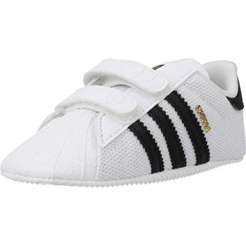 Adidas Superstar Crib, Zapatillas Unisex bebé, Blanco (Footwear White/Core Black/Footwear White 0), 20 EU