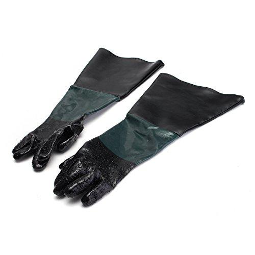 MASUNN 2 Stks 24 Inch 60 cm Rubberen Handschoenen Vervanging met Deeltjes Voor Sandblast Kasten