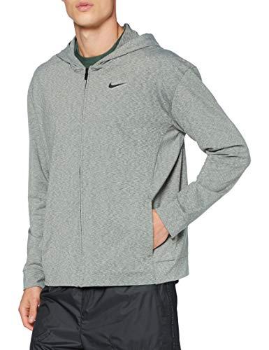 Nike Herren Hoodie Full Zip Hyper Dry Lt Pullover, Black/Heather/Black, L