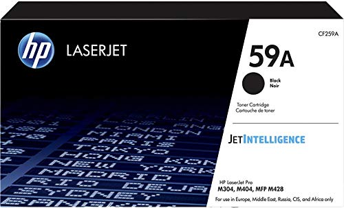 HP 59A CF259A Cartuccia Toner Originale da 3000 Pagine, Compatibile con le Stampanti Laserjet Serie M400 e M428, JetIntelligence, Nero
