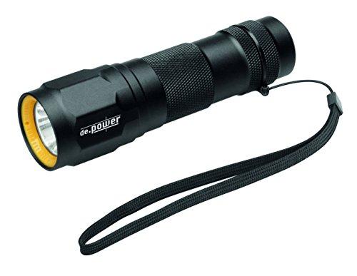 de.power zaklamp, Cree LED, 263 lm mes, meerkleurig, één maat