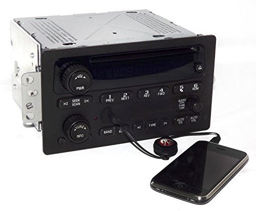 1 Factory Radio AM FM CD Player w Aux Input Compatible With 2005-09 Chevrolet GMC Truck 15850275