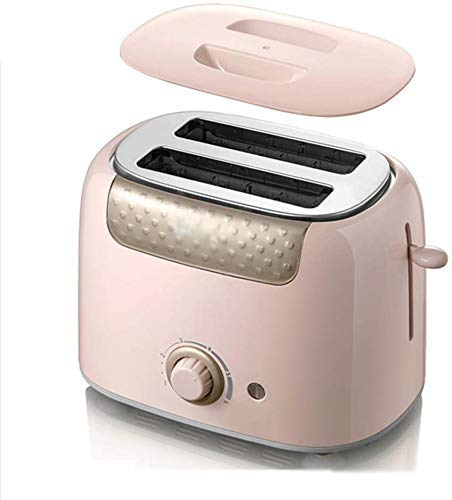 RENXR Toaster, 2 Slice Toaster with Cancel/REHEAT/DEFROST Function 6 Browning Settings Wide Slot Stainless Steel Toasters Small Toaster for Bread Waffles SZWHO (Color : Pink)