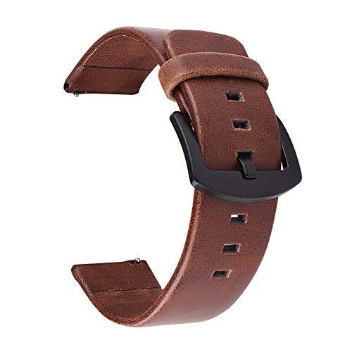 ZZDH Correa Reloj Cuero Correa de Cuero 18mm 20 mm 22mm 24mm, Reloj 46mm 42mm Correa de Engranaje Correa de reemplazo (Bandwidth : 24mm, 颜色 Color : Black)