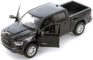 2019 Dodge Ram 1500 Crew Cab Laramie Pickup Truck Black 1/24 Diecast Model Car by Motormax 79357