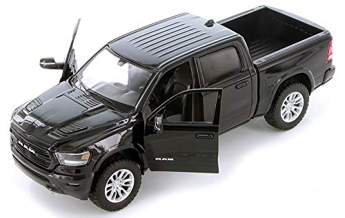2019 RAM 1500 Laramie Crew Cab Pickup Truck Black 1/24 Diecast Model Car by Motormax 79357