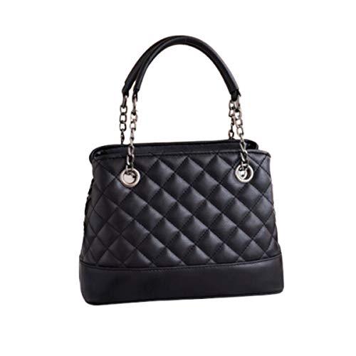 Rare Fig Frauen Umhängetasche Gesteppte PU-Lederhandtasche Für Party Office Travel Work Dating oder Täglicher Gebrauch (Schwarz)