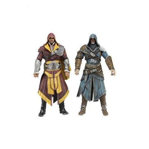 NECA - Set di 2 Action Figure di Ezio Auditore, dal Videogioco Assassin's Creed