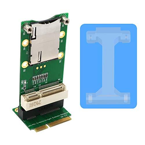 JMT Adaptador Mini PCI-E con Ranura para Tarjeta SIM Instalación Vertical para módem 3G WWAN 4G / LTE HSPA Tarjeta GPS para Ordenadores Portátiles de Escritorio