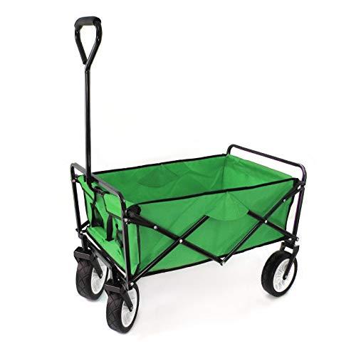 RAMROXX 34160 - Carro de transporte para jardín, plegable, hasta 80 kg, color verde