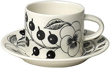 [アラビア] ARABIA ブラックパラティッシ(ブラック パラティッシ) コーヒーカップ&ソーサー セット [並行輸入品]