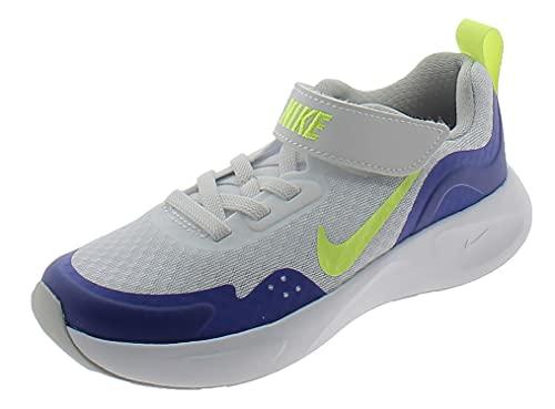Nike Scarpe Sportive WEARALLDAY CJ3817104 Bambino Bianche Bianco 30 EU