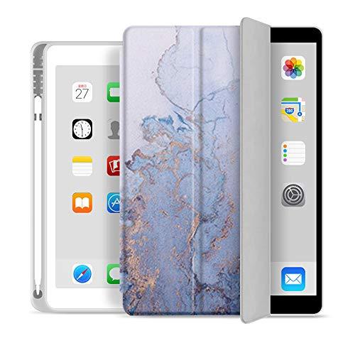 RZL PAD & TAB cases With Pencil Holder Case For iPad 5th 6th 9.7 7th 10.2'10.5 MI-NI 5 Pro 11 12.9 inch Case 2020 tpu Silicone Smart Cover Wake Funda (Color : Di tuo, Size : For iPad 5th 6th 9.7)