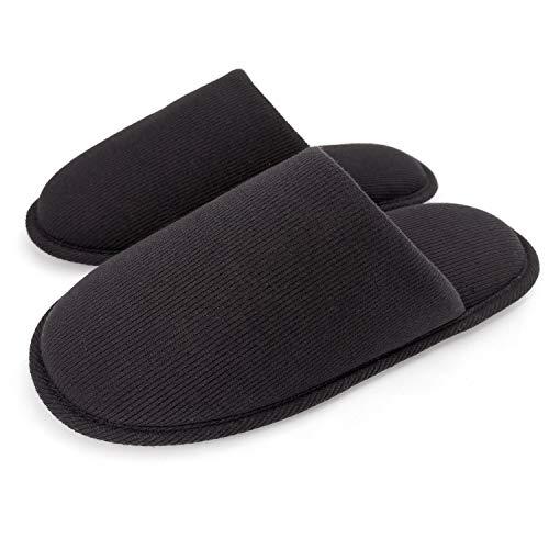 ofoot M?nner Gem¨¹tliche Faden Stoff Bio Baumwoll Pantoffeln, Abwaschbare Wohnung Indoor/Outdoor - Schuhe.
