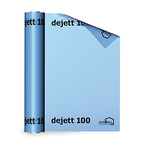 dejett 100 Dampfsperrfolie 4m x 25m blau Dampfbremse Dampfsperre Dampfbremsfolie Dach Folie