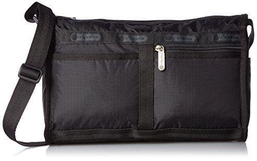 LeSportsac Classic Deluxe Shoulder Satchel Handbag, black