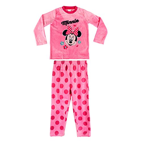 1788 Pijama de Terciopelo para niñas con Motivo de Minnie