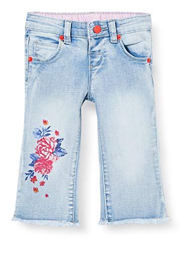 Brums Pants Denim Stretch con Stampa Jeans, Grigio (Super Stone Wash 01 149), 68 (Taglia Unica: 6M) Bimba
