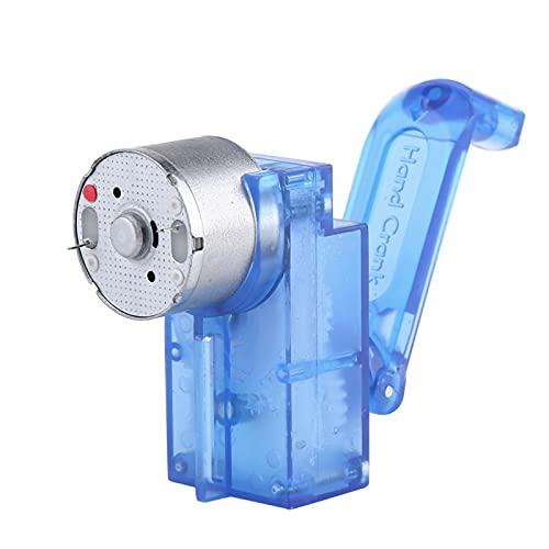 Oumefar Generador de manivela Manual, generador de Electricidad de Mano, generador Manual de dínamo mecánico para educación Infantil
