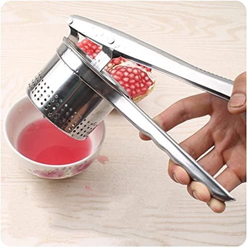 Exprimidor manual de granada exprimido fruta jugo de uva exprimidor multifuncional patata prensado puré de patatas de acero inoxidable exprimidor de zumo de naranja de limón Exprimidor de sandía
