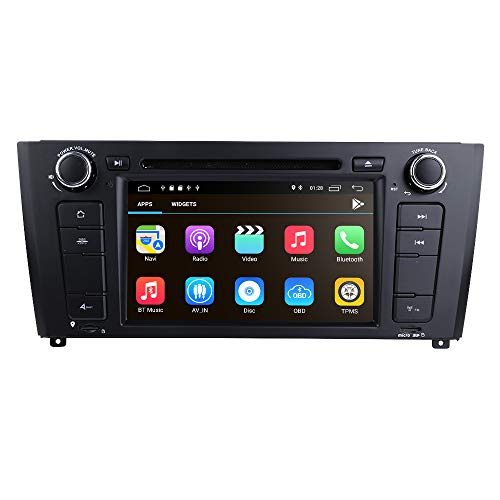 Autoradio 1 Din Auto Dvd-speler Android 10 OS 2GB + 16GB voor BMW: E81 E82 E87 E88 met 7 inch capacitief touchscreen Mirror-link Bluetooth WiFi 4G GPS SWC USB SD RDS DVR EQ