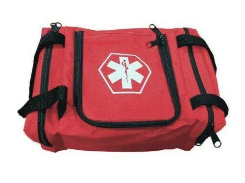 First Aid Responder EMS Emergency Medical Trauma Bag EMT, Fire Fighter, Police Officer, Paramedics, Nurse (Red)