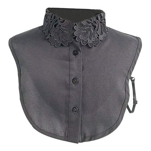 Boylee Stylish Detachable Half Shirt Half Blouse with Floral Lace Fake Collar Elegant...