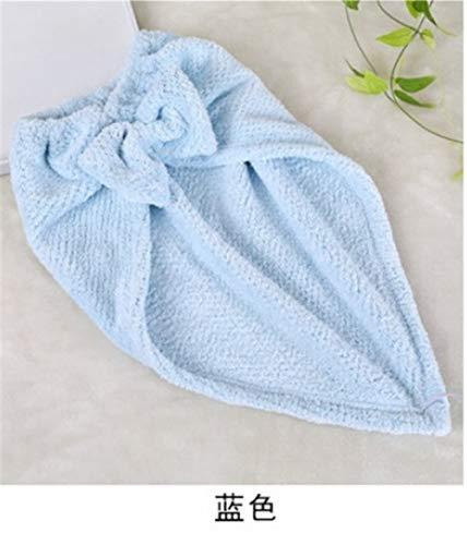 No branded Wrap Cap Douche Cheveux Douche Cap de Haute qualité à séchage Rapide Serviette Rapide Bow Cheveux épais Doux Absorbent Bonnet de Douche (Color : Bleu Clair)