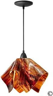product image for Jezebel Signature Flame Pendant Large. Hardware: Black. Glass: Begonia