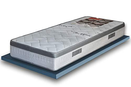 EcoDream - Materasso Singolo a Molle Rigido - Alto 25 cm, Ortopedico Anche per Pesi Importanti, Con Molle Bonnel Biconiche, Tessuto Thermico e Fascia Traspirante, Made in Italy (80 x 190)